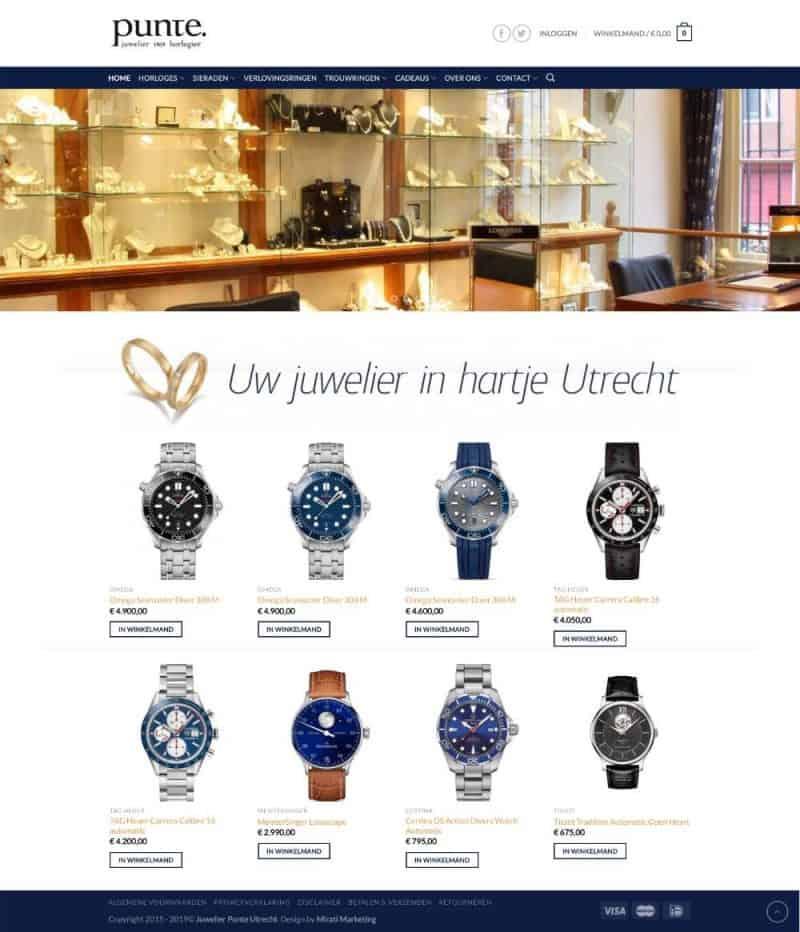 Punte Juwelier webshop 2015 - 2019